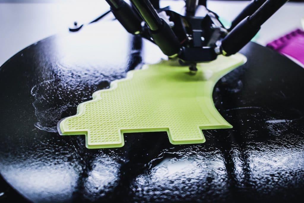 Nahaufnahme eines 3D-Drucks in progress