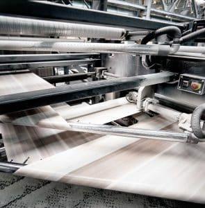 Nahaufnahme eines großen Druckers